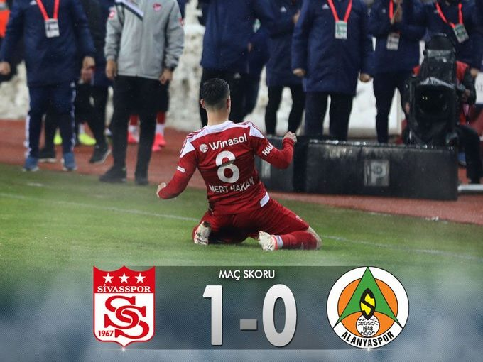 Sivasspor 1 - 0 Alanyaspor