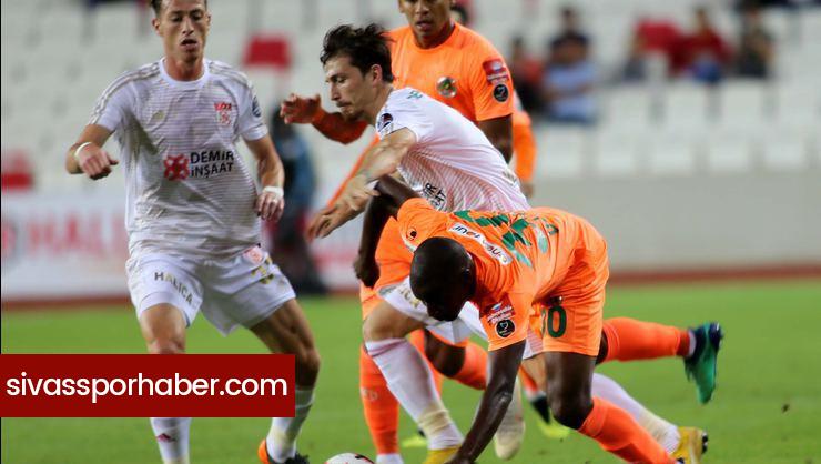 Sivasspor Alanyaspor Maçının İlk 11'leri Belli Oldu